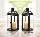 "10 Black 12"" Tall Malta Candle holder Lantern light wedding table centerpiece S"
