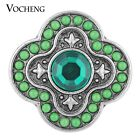 Snap Button Vocheng 18mm 2 Colors Round Bead Rhinestone Glam Jewelry Vn-1118