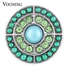 Snap Charms Vocheng 18mm Green Blue 2 Colors Filled Bead Button Jewelry Vn-1122