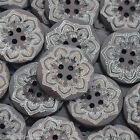 Gift Wholesale Flower Pattern Round Wooden Sewing Buttons Scrapbooking DIY
