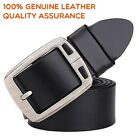 "Fashion Top quality Mens Belt cowhide Genuine Leather Belt Waist 30""-52"" 3 color"