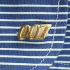 PAIR OF JAMES BOND 007 CUFFLINKS Gold or Silver Tone £2.99 GBP on eBay