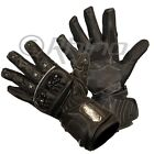 Mens Leather Summer Motorcycle Motorbike Gloves knuckle and wrist protection