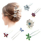 Hair Pins Girls Bridesmaid Accessories Prom Crystal Clips Pieces Diamante Slides for sale  Shipping to United States