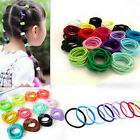 100pcs Multi-Color Elastic Rope Hairband Ponytail Holder Hair Ties For Kids Girl