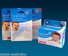 Brush Baby Wipes & Chewable Toothbrush ~ Teether & 28 Dental Teething Wipes