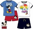 Disney Mickey Mouse Set T-Shirt + Shorts NEU 98-128 Jungen