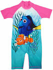 Girls Disney Pixar Finding Dory & Nemo Sunsafe All in One Swimsuit 1.5 - 5 Years