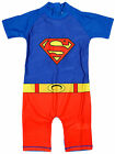 Boys Superman Costume Sunsafe All in One Swimsuit Sunsuit 1.5 to 5 Years