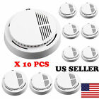 smoke alarms wireless - Lot Sale Wireless Fire Smoke Sensor Detector Alarm Tester Home Security White US