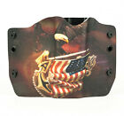 1911, Beretta, Bersa, Browning, Eagle On Flag, OWB Kydex Gun Holsters