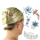 Hair Combs Bridesmaid Accessories Girls Crystal Prom Slides Clips Head Pieces UK for sale  Shipping to United States