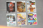 Divers jeux wii fifa, super mario, just dance, music, spiderman, kit, etc