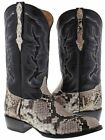 Mens Python Belly Snakeskin Cowboy Western Boots Handcrafted J Toe