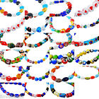 1Strand Lampwork Glass Spacer Beads Fit Jewelry Making