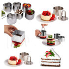 Stainless Square Round Mousse Cake Pastry Mold Ring Mould Layer Slicer Cutter