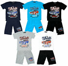Boys The Roader Tour 76 Motor Car T-Shirt Top & Shorts Fashion Set 2 to 10 Years