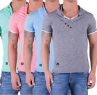 Redbridge Herren Men Kurzarm Shirt T-Shirt Slim Fit V-Neck 2in1 S M L XL XXL NEU