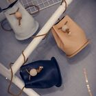Lady Shoulder Messenger Bag Wood Ball Bag Fashion Hobo Purse Drawstring Satchel