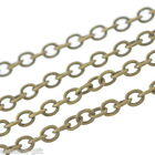 Gift Wholesale Bronze Tone Links-Opened Cable Chains 2x3mm