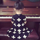 2015 Hot Sell New Baby Girls Short Sleeve Summer Dress Fit 1-4y