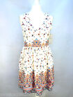 ZARA CREAM FLORAL SUMMER FLIPPY DRESS SIZE S_M REF 2356 559