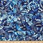 BUTTERFLY FOREST PACKED BLUE CRAFT QUILT SEWING FABRIC *** Free Oz Post ***