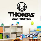 Star Wars - Jedi Master Name Typography - Wall Decal - Any Color Available $32.67 CAD