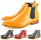Mens Italian Style Leather Lined Chelsea  Ankle Pointed Toe Boots UK Sizes 6-11
