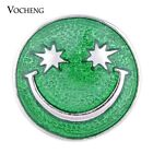Snap Jewelry Vocheng Smiling Face Button 3 Colors Hand Painted 18mm Vn-1020