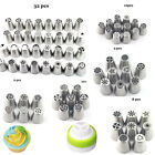 32 Styles Flower Icing Piping Nozzles Tips Fondant Pastry Cake Decorating Baking