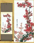 Chinese Silk Scroll Painting Gongbi Plum Blossom Home Decoration Various