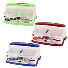 Kitchen Household Plastic Spices Condiment Dispenser Box Cutters Holder Set