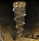 New Modern Spiral Chandelier lead glass crystal large long big ceiling lamp hot