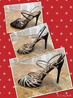NWT Sam Edelman Harlette Hight Heel Sandals black/gold/silver Retail$100