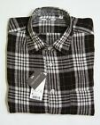 NEW UNIQLO MEN PREMIUM LINEN CHECK LONG SLEEVE SHIRT Brown (076328)