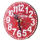 Antique Clock Wall Rustic Vintage Style Wooden Round Clocks Home Art Decorations