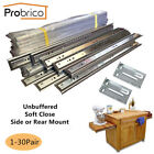 Probrico Full Extension Ball Bearing Drawer Slides Soft Close/Unbuffered Runners