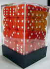 PACK OF 36 RED OPAQUE SPOTTED DICE, 6 SIDED, 12mm SIDES