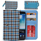KroO ECX62 Houndstooth Protective Wallet Case Clutch Cover for Smart-Phones