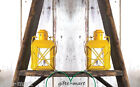 "10 Small rustic sunflower yellow 5"" Candle Holder lantern wedding centerpiece"