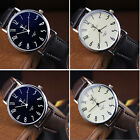 Yazole 299 Stainless Steel Business Quartz Watch With Leather Band For Men