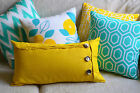 Cushion Covers Turquoise, Aqua, Yellow, Blue, Bright Colourful Throw Pillows