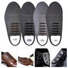Business Black/Brown Easy No Tie Shoelaces Elastic Silicone Round Shoe Lace Set
