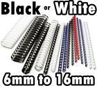 A4 RING BINDING COMBS BINDER Plastic Binding Comb (CHOICE OF COLOUR AND SIZE)