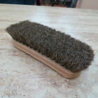 Brown Shoe Shine Buffing Brush 100% Horsehair Horse Hair Wood Handle Boot