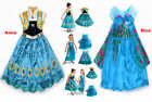 Frozen Fever Costume Elsa Anna Princess Queen New Cosplay Fancy Party Dress 3-8Y
