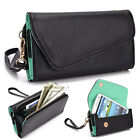Fad Bicast Leather Protective Wallet Case Clutch Cover for Smart-Phones MLUB8