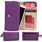 Two-Tone Protective Wallet Case Clutch Cover for Smart-Phones ESAMMT-9