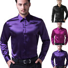 New Stylish Mens Slim Fit Casual Shirt Shirts Business Top Long Sleeve Size S-XL